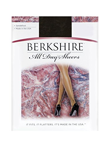 Berkshire All Day Sheers Pantyhose 4402, Off Black, 3-4