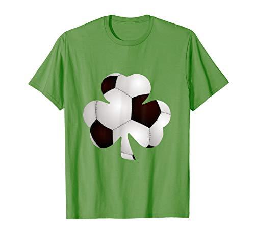 Soccer Ball Shamrock T-Shirt Funny Irish St Patrick Day Gift