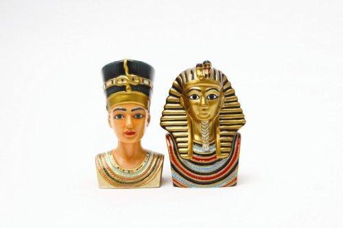 Egyptian King Tut & Queen Nefertiti Salt & Pepper Shakers