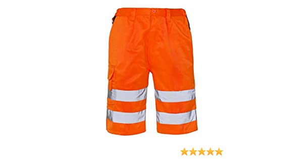 Rimi Hanger High Visibility Safety Shorts Adult Work Wear Half Pants S//4XL