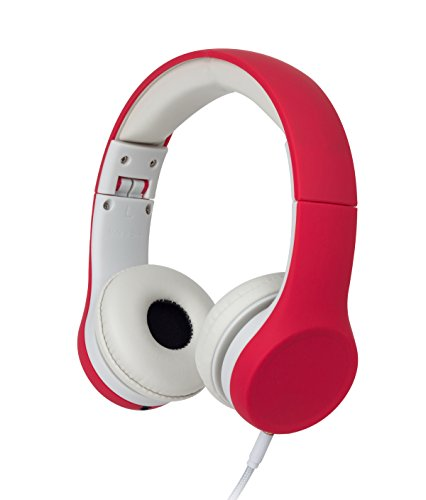 Snug Play+ Kids Headphones Volume Limiting and Audio Sharing Port (Red)