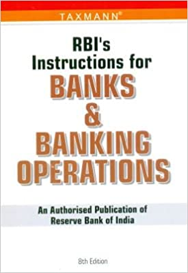 Rbi's instruction for banks & banking operations | book by taxmann.