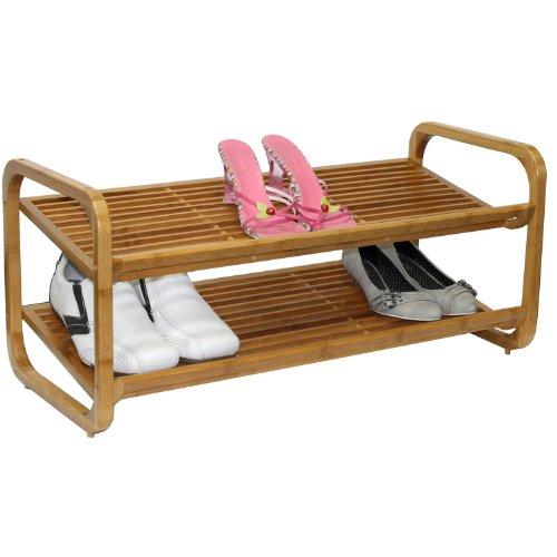 Oceanstar SR1224 2 Tier Bamboo Shoe product image
