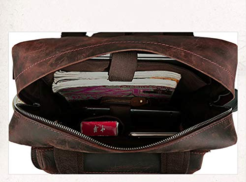 Mochila Para Vintage Hombre lederen Port Olprkgdg Vintage mens 19 Laptop Cuero De capaciteit rugzak voor de grote Olprkgdg BWAn1RP