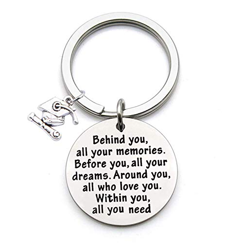 FEELMEM Graduation Gifts Behind You All Memories Before You All Your Dream Graduation Keychain Inspirational Graduates Gifts 2018, 2019 -