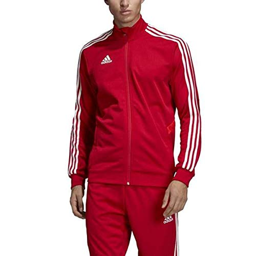 adidas Men's Tiro 19 Track Suit (S Jacket/L Pant, Red/White)