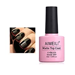 Directions Step 1: Prep and push back cuticles. Step 2: Apply AIMEILI Base coat, and cure under UV lamp for 1 minute, LED light for 30 seconds. Step 3: Apply AIMEILI color in a thin application. Cure under UV lamp for 2 minutes, LED light for...