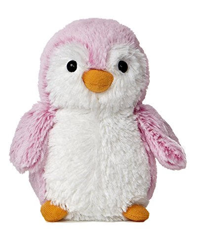 (Aurora World Pom Pom Penguin Bright Pink Plush, 6