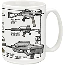 Cuppa Second Amendment Rights 15-Ounce Coffee Mug with 21st Century Assault Rifles