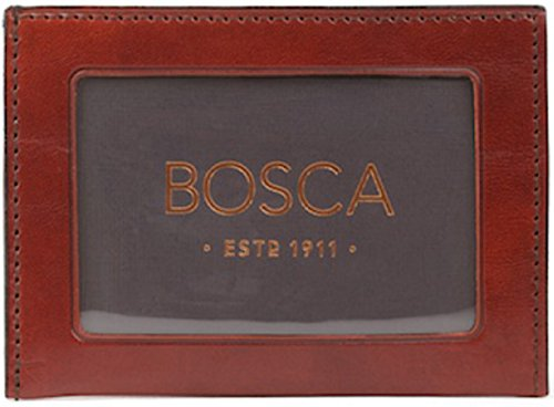 Bosca Old Leather Coin Purse - Bosca Mens Old Leather Weekend Wallet (Cognac)