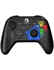 GameSir T4 pro Wireless Bluetooth Game Controller for Windows 7 8 10 PC/iOS/Android/Switch/TV Box, Dual Shock USB iPhone Gamepad Joystick for Apple Arcade MFi Games, LED Backlight