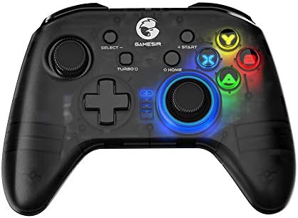 Amazon Com Gamesir T4 Pro Wireless Game Controller For Windows 7 8 10 Pc Ios Android Switch Dual Shock Usb Bluetooth Mobile Phone Gamepad Joystick For Apple Arcade Mfi Games Semi Transparent Led Backlight Computers Accessories