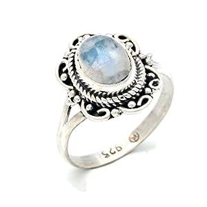 Anello argento 925 con pietra di luna 1 (No: MRI 122)