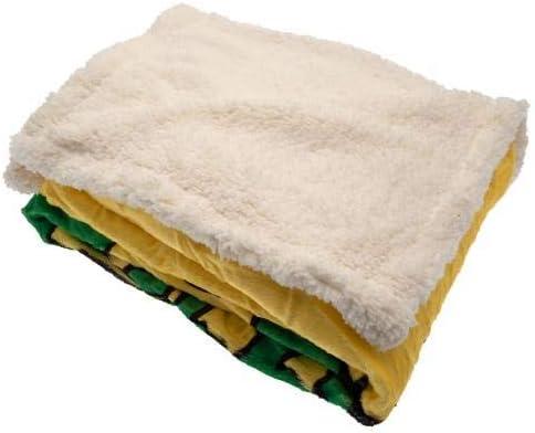 Norwich City FC Sherpa Fleece Blanket Official Merchandise