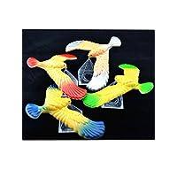 C&H Solutions - Pájaro de equilibrio lindo de 3 piezas con soporte de triángulo transparente (los colores pueden variar) por