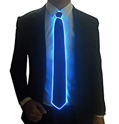 Blue Micro Soild-red Light LED Tie