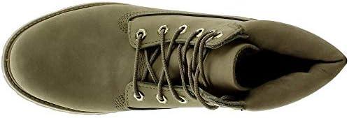 """Timberland Women's 6"""" Premium Boot Light Green Nubuck 2 8 B US B (M)"""