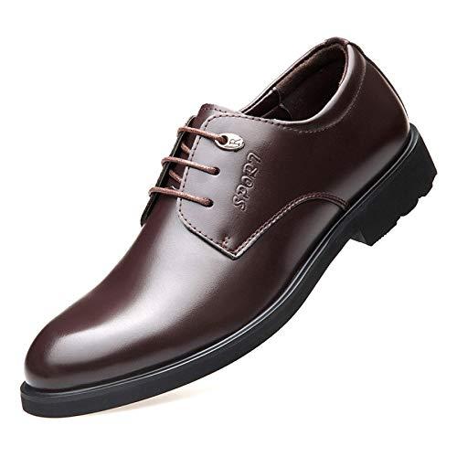 Pelle Primavera Uomo Brown Pelle Scarpe da Casual in Traspiranti Scarpe Britannico Scarpe Business in Lace Ef0xU7Hqw