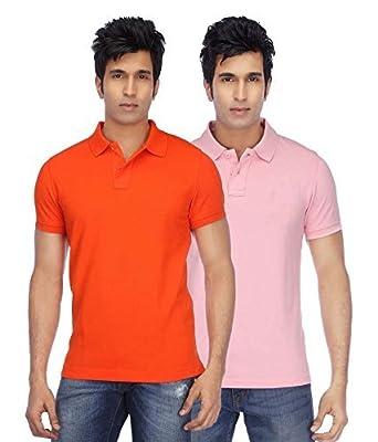 3994bf3d03a Kalpit Men s Comfort Soft Premium Cotton Plain Polo Collar Half Sleeve T- Shirt with Solid