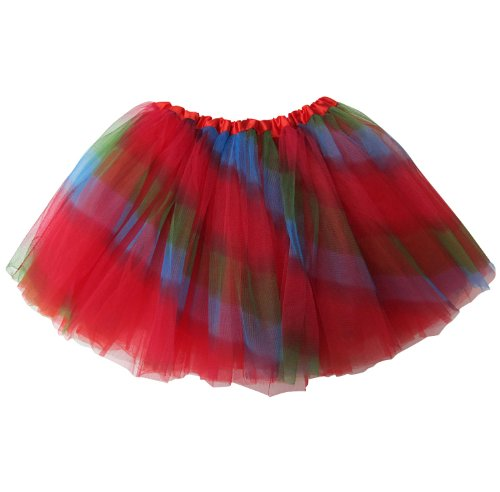 So Sydney Ballerina Basic Girls Ballet Dance Dress-Up Princess Fairy Costume Dance Recital Tutu (Rainbow)