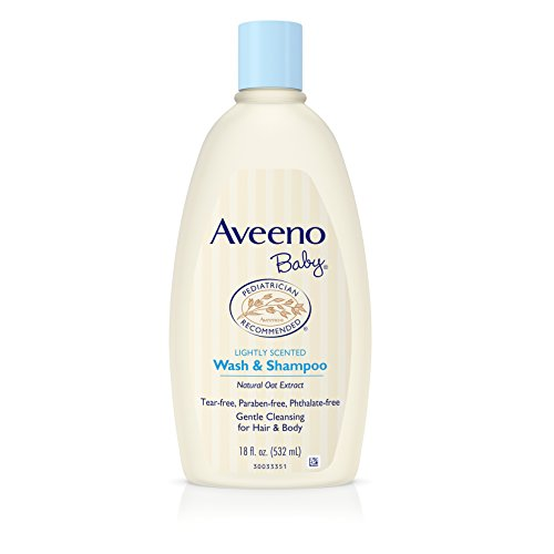 Aveeno Baby Gentle Wash & Shampoo with Natural Oat Extract, Tear-Free &, Lightly Scented, 18 fl. oz from Aveeno Baby