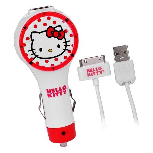 Hello Kitty iPhone/iPod/iPad Car Charger (HK-10389C-IPD) (Hello Kitty Car Charger)