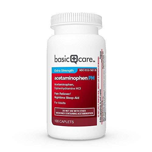 Basic Care Extra Strength Acetaminophen PM Caplets, 100 Count by Basic Care (Image #4)