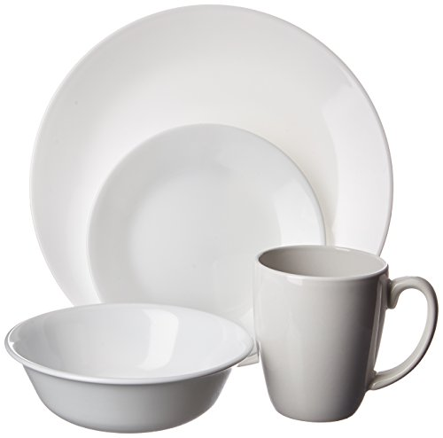 Corelle Livingware 16-Piece Dinnerware Set, Winter Frost White , Service for 4 [DISCONTINUED]