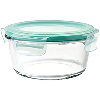 OXO Good Grips 4 Cup Smart Seal Leakproof Glass Round Food Storage Container