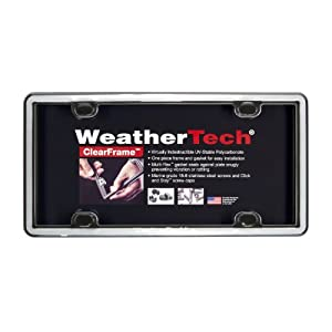 WeatherTech Chrome Clear License Plate Frame