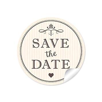 """24 pegatinas:""""Save the Date"""" bonitas etiquetas con aspecto vintage retro de"""