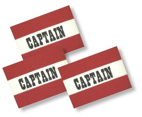 Soccer Team Captains Arm Band 3-Pack - color Red - Adult Size