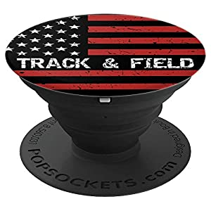 Track field USA American Flag Sport Fan Gift Pop Socket PopSockets Grip and Stand for Phones and Tablets