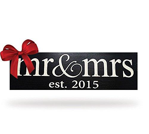 Local Artist Mr & Mrs Est. 2015 Wood Sign Wedding Wall