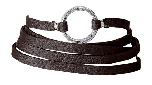 Adjustable Simulated Leather Bracelet Burgundy