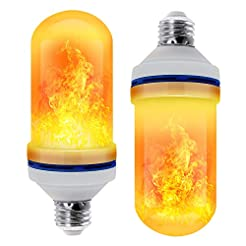 CPPSLEE - LED Flame Effect Light Bulb - ...