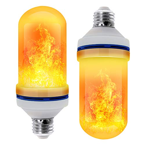 CPPSLEE - LED Flame Effect Light Bulb - 4 Modes with Upside Down Effect - E26 Base Christmas Decorations Flame Light Bulbs for Indoor/Outdoor/Hotel/Bar/Party Christmas Decor(2 Pack)