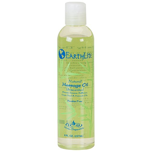 EARTHLITE Massage Oil - Natural, Unscented, Vitamin A, E & C to Repair & Moisture for All Massage Styles ()