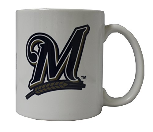 Milwaukee Brewers 11 oz White Ceramic Mug (Milwaukee Baseball White Brewers)