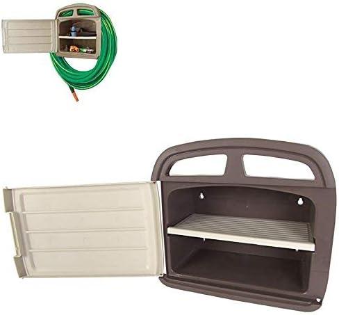 Robusto – Soporte para manguera (Incluye compartimento – Soporte para manguera de jardín – Jardín manguera plana: Amazon.es: Jardín