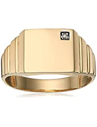 Men's 10k Yellow Gold Diamond-Accent Square Diamond Ring, Size 10.5 (1/10cttw, H-I Color, I1-I2 Clarity)