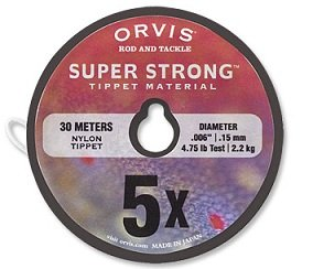 Orvis Super Strong Tippet Material 40M Spool 5X