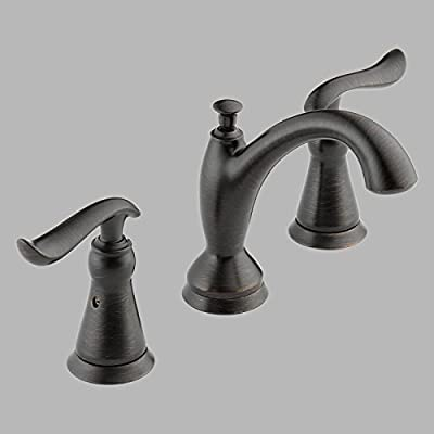 Delta 3594-MPU-DST Linden Widespread Bathroom Faucet with Pop-Up Drain Assembly,