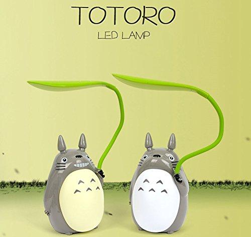 Leaves Lamp (Totoro Leaf LED Night Light [White, Green], children reading night light, night desk lamp, USB power supply (Green Belly))