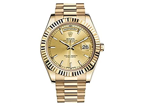 8237ae8901d8 Image Unavailable. Image not available for. Color  New Rolex Day Date II  President 18K Yellow Gold Mens Watch ...