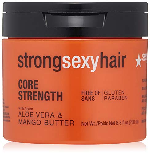 Sexy Hair Concepts Strong Sexy Hair Core Strength - Sulfate, Gluten & Paraben Free Aloe Vera & Mango Butter Nourishing Anti-Breakage Masque Leaves Hair Softer & Shinier - Moisture Boost - 6.8oz