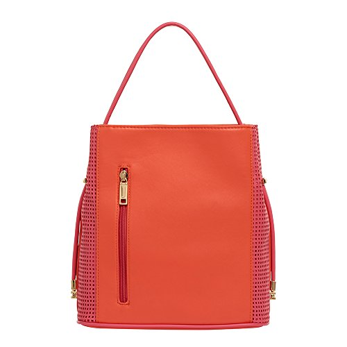 samoe-style-tangerine-and-berry-pink-punched-texture-classic-convertible-handbag