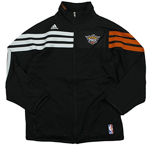 Adidas Nba Track Jacket - adidas Phoenix Suns NBA Big Boys On The Court Zip Up Jacket (Medium (10-12), Black)