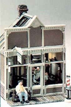 Floyds Barber Shop Mini Scene Woodland (Ho Scale Mini Scene)