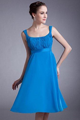 Buegel Chiffon Himmelblau GEORGE Kleid BRIDE knielangen Abendkleid Eleganter Brautjungfer BtqEpxE6w